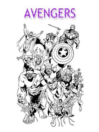 Kolorowanki Avengers