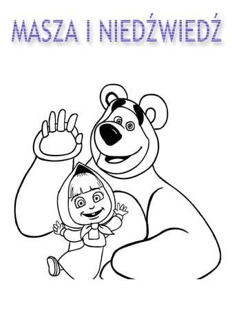 Kolorowanki Masza i Niedźwiedź