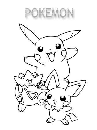 Kolorowanki Pokemony