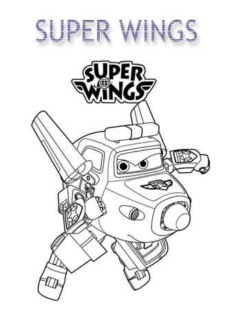 Kolorowanki Super Wings